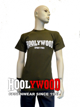 "HOOLYWOOD T-Shirt ""SPORT FREI"" (olive) - Made in Germany"