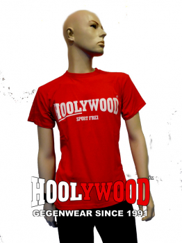 "HOOLYWOOD T-Shirt ""SPORT FREI"" (rot) - Made in Germany"