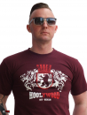 HOOLYWOOD T-Shirt, Wappen - Berlin, Made in Germany (burgundy - weinrot)