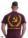 "HOOLYWOOD T-Shirt ""Marxismus-Hooliganismus"" Klassisch, Made in Germany (weinrot)"